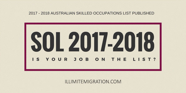 The Australian Government announces changes that affect Skilled Visa categories